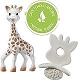 VULLI 616624 Sophie la girafe + 1 Schnuller/Zahnungshilfe SO'PURE, beige von elements for kids GmbH