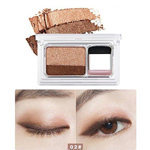Hunputa Eyeshadow Shimmer Two Stamp Eyeshadow Palette Makeup Powder Flexibility Lasting Professional Makeup Or Daily Use B