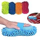 Dooppa professionale guanto in microfibra ciniglia Wash spugna (colore casuale) immagine