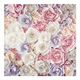 Vliestapete Pastell Paper Art Rosen, HxB: 192cm x 192cm