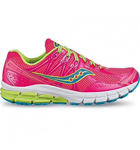 Saucony, ProGrid JAZZ 18, Scarpe running donna, Pink/Citron/Blue, 37