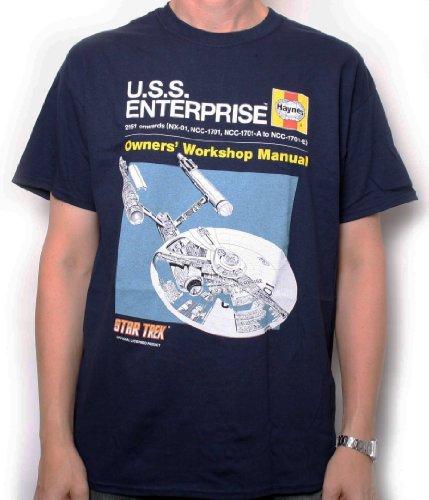 Star Trek Haynes Manual USS Enterprise ADULT T-Shirt