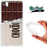 Becool® Fun - Funda Gel Flexible para Bq Aquaris M5 .Carcasa TPU fabricada con la mejor Silicona, protege y se adapta a la perfección a tu Smartphone y con nuestro diseño exclusivo Tableta de chocolate negro