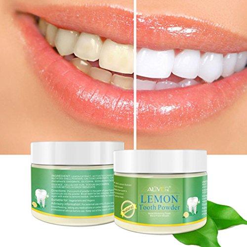 Zahnweiß-Pulver Huihong natürliche aktivierte Zitrone Bleaching Zahn Zähne Pulver - Zitrone Zahnpasta