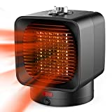 Ommani Heizlüfter Energiesparend 1500W / 750W, 1 Sekunden Heizung Keramik Heizlüfter, 2 Modi & 3 Stunden Timing Elektrische Heizer, Oszillierend, Überhitzungs- und Umkippschutz, für Büro und Familie