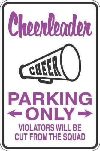 Aufkleber Cheerleader Parking Only, lustiges Privateigentum, Warnschild, selbstklebend, 20,3 x 30,5 cm, S264