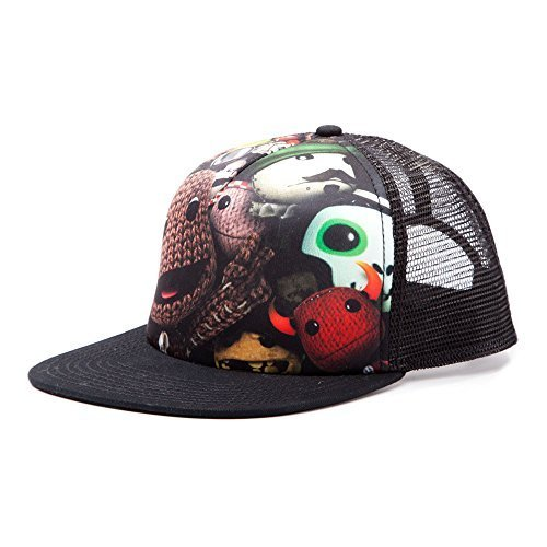 Little Big Planet Trucker Snapback Baseball Cap with Sublimation Print (Black) by Little Big Planet Print Trucker Cap
