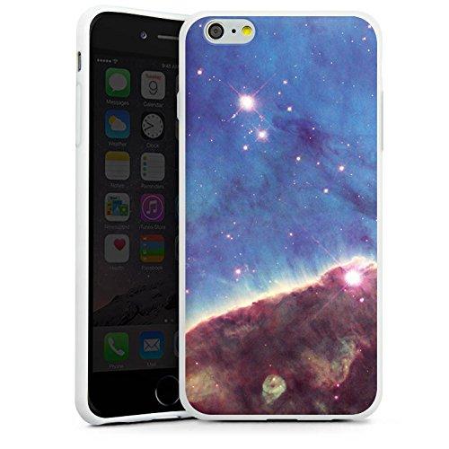 Apple iPhone X Silikon Hülle Case Schutzhülle Gabriela Mistral Nebel Space Galaxy Silikon Case weiß