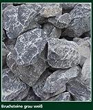 ca. 800 Kg Bruchsteine grau weiß, 60-120 mm im Drahtkorb
