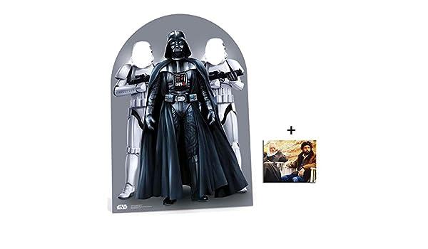 Avec Star Photo Dimensions 25x20 Cm Standee Silhouette En Carton Stormtrooper Star Wars Personnage D/écoup/é Dans Du Carton Stand-Up Grandeur Nature