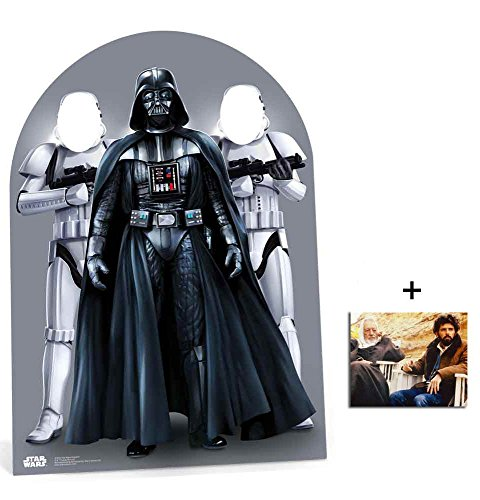 Darth Vader and Stormtroopers Kindergröße Pappfiguren stehen hinter / Stehplatzinhaber / Aufsteller Enthält 8X10 (25X20Cm) starfoto (Darth Vader Pappaufsteller)