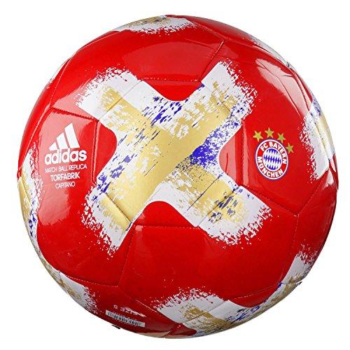 adidas Fussball Torfabrik FC Bayern München FCB TRUE RED/WHITE/ROYAL/GOLD MET. 4