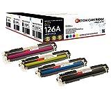 Original Reton Toner, kompatibel, 4er Farbset für HP CP1025 (CE310A, CE311A, CE312A, CE313A), HP 126A, Color Laserjet PRO M175 MFP, PRO 100 M175A, PRO 200 M275NW, TOPSHOT PRO M275NW
