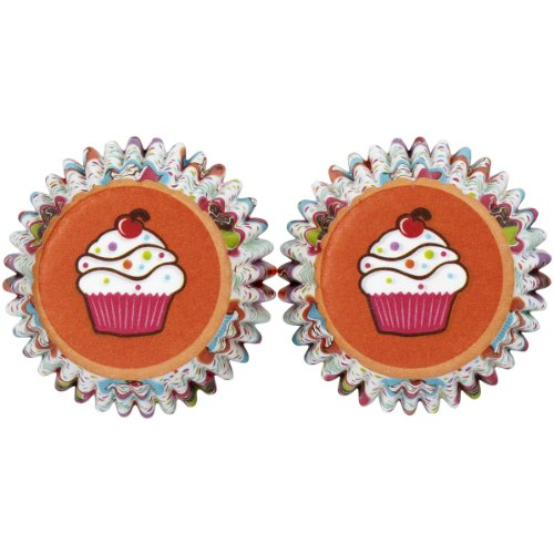 Wilton Mini Baking Cups-Cupcake Party 100/Pkg -