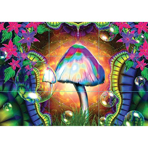 MAGIC MUSHROOMS TRIPPY GIANT PRINT PICTURE POSTER PLAKAT DRUCK G158 - Blacklight Poster