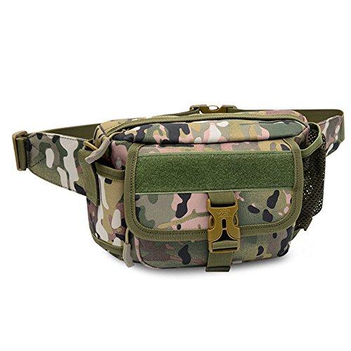 Samtlan - Military Single Schulter Fanny Packs, Multifunktionale wasserdichte Taille Pack Tasche zum Wandern Klettern Outdoor CP tarnung