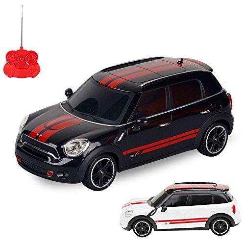 MINI Cooper JCW Edition RC ferngesteuertes Lizenz-Modell Auto, Fahrzeug Modellbau, 1:24 Ready-to-Drive, Inkl. Fernsteuerung (Cooper Beleuchtung)
