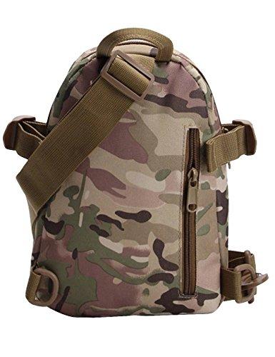 Menschwear Schleuder Tasche Chest Pack,Multiple Storage Zweck Umhängetasche Tragen Styles Tarnung 3 Tarnung 3