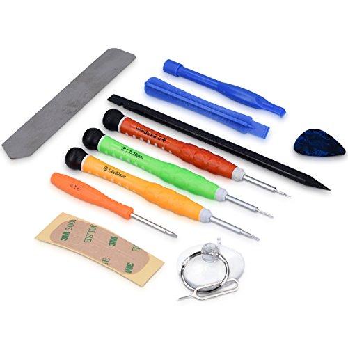Kwmobile kit 13 strumenti di riparazione smartphone - set attrezzi di precisione cacciaviti utensili per iphone ipad samsung sony tablet cellulare