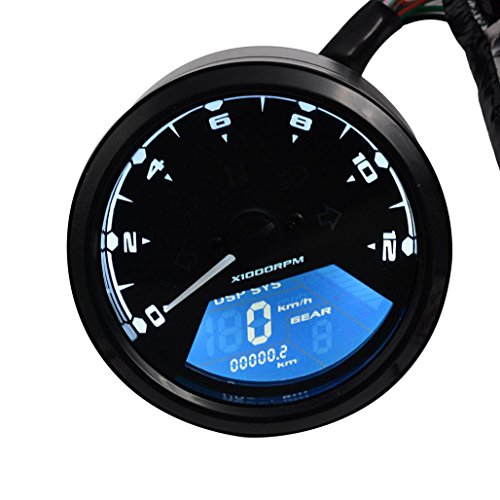 LCD Digital Moto contagiri - Kingwo tachimetro