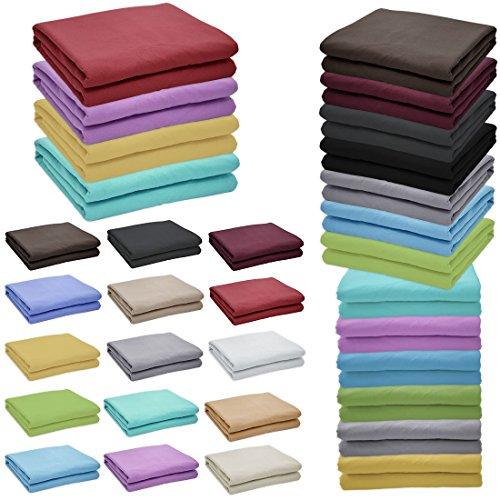 flanellbettlaken Nurtextil24 Flanell Bettlaken in 12 Farben & 4 Größen Bettüberwurf aus 100% Baumwolle Creme 210 x 240 cm