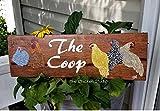 Beyyins The Roost Chicken Coop Panneau de poulailler Art Décor de Poules Peinture Originale