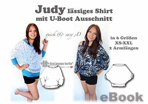 Apple Top Shirt (Judy Nähanleitung mit Schnittmuster auf CD für Big Shirt Top Gr. 32-52 Fledermaus-Shirt mit U-Boot Ausschnitt)