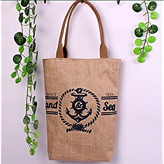 Addfun reg;Jute Totes Bags Water Proofing Cartoon Book Jute Bag with zipper, Ideal for Shopping |Picnics|Outdoor Sporting