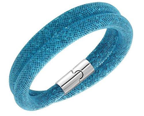 Swarovski 5120022stardust blu bracciale doppio medio