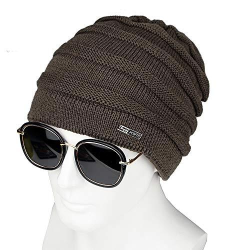 VRTUR Männer Damen Ausgebeult Warm Häkeln Winter Mütze Schädel SlouchyKappen Hut Baseball Wollmütze
