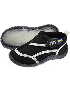 Swimpy® Unisex de niños Aqua Guantes playa Escarpines schwimmschuhe Suela de neopreno y malla de TPR y 100% protección...