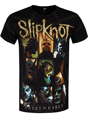 Slipknot T-Shirt (Sic)Nesses All Over Print da uomo in nero