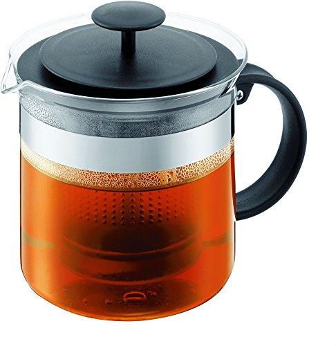 Bodum 1880-01 Teapress 1,5l schwarz Teapot Bistro Nouveau