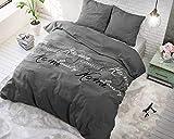 SLEEP TIME Bettwäsche Royal Luxury, 100% Baumwolle, 200cm x 200cm, Mit 2 Kissenbezüge 80cm x 80cm, Grau