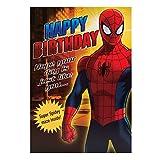 """Hallmark Carte d'anniversaire Spiderman pour enfant""""Spiderman Labyrinthe–Taille M..."""