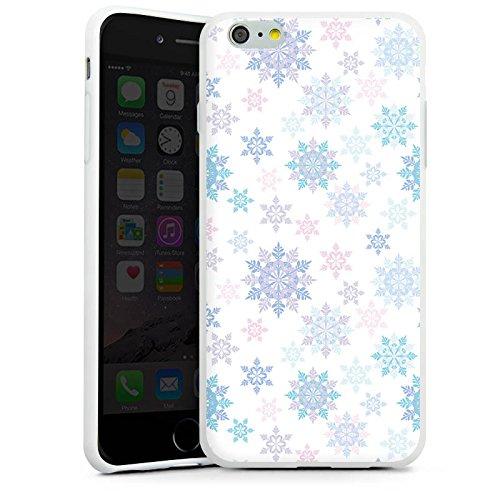 Apple iPhone X Silikon Hülle Case Schutzhülle Frost Schneeflocken Winter Silikon Case weiß