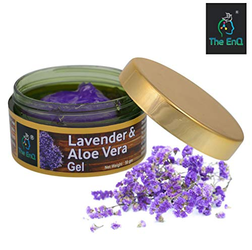 The EnQ Aloe Vera & Lavender Gel || 99% Pure Aloe Vera Gel With Lavender Essential Oil || No Parabens No Sulfates || 50gm