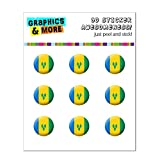 Saint Vincent and The Grenadines National Country Flag Home Button Stickers Fit Apple iPhone (3G, 3GS, 4, 4S, 5, 5C, 5S), iPad (1, 2, 3, 4, mini), iPod Touch (1, 2, 3, 4, 5)