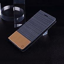 EKINHUI Case Cover SONY Xperia cubierta de la caja C4, Hit Colores Patrón cruzar las líneas de la caja del cuero de la lona de la PU de la cubierta de silicona TPU cubierta del soporte del tirón con la ranura para tarjeta para Sony Xperia C4 ( Color : 2 , Size : SONY C4 )