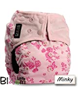 """LittleBloom, Reusable Pocket Real Cloth Nappy Washable Diaper BAMBOO CHARCOAL, Pattern 29, With 1 Charcoal Insert, (see """"Special Offers and Product Promotions"""" for Special Offers Detail)"""