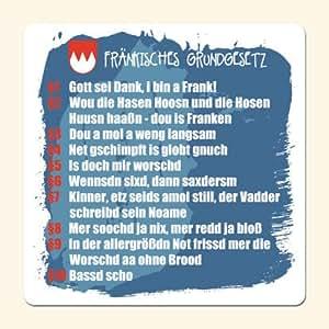 die stadtmeister Untersetzer Fränkisches Grundgesetz - als Geschenk für echte Franken oder als Franken Souvenir