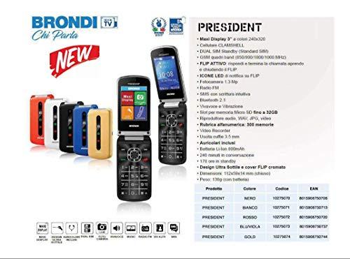 Brondi Magnum 3 Telefono Cellulare, Rosso