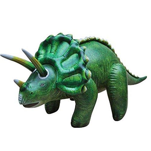 """Jet Creations 17 """"H x 16"""" W x 42 """"L Aufblasbare Triceratops, große aufblasbare Tiere Dinosaurier Spielzeug für drinnen und draußen spielen Neue Aufblasbare Spielzeuge"""