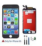 Display für iPhone 6S Bildschirm Ersatzset LCD Display Touchscreen Glas Reparatur Digitizer Ersatz Frei Tools Set für iPhone 6S (Schwarz)