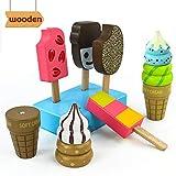 jerryvon EIS Spielzeug Holzspielzeug Lebensmittel Kinder Spielküche Rollenspiel Kaufladen Zubehör...