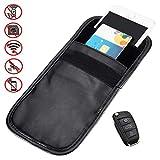 YYGIFT Handy Strahlenschutz PU Leder Tasche Universal Smartphone GSM/LTE / RFID/NFC Abschirmung Hülle Keyless Go System für Autoschlüssel Funkschlüssel EC Karte Kreditkarte iPhone Samsung