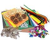 Creavvee® Jumbo Nature Bastelmix, Diverse Bastel-Materialien, Goldgrube für eifrige Bastler