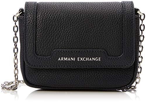 ARMANI EXCHANGE Small Crossbody Bag - Borse a tracolla Donna, Blu (Navy), 12x5x16 cm (B x H T)