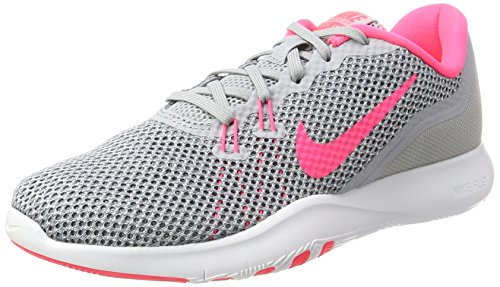 Nike Women's Flex Trainer 7 Fitness Shoes, Grey (Wolf Grey/Racer Pink-Stealth), 5...