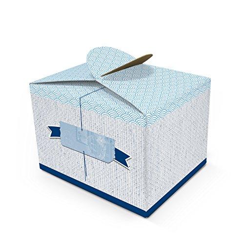 IS Geschenkschachtel maritim Geschenk-box mini-Kartons Faltschachtel Größe 8 x 6,5 x 5,5 cm Verpackung Tischdeko Gastgeschenk Mitgebsel give-away kleine Sachen + Dinge ()